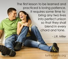 A great article on the importance of patience in marriage!!