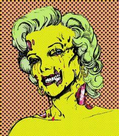 zombi marilyn, marilyn zombro, marilyn monroe, marylin, zombi art, zombies