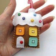 Hattifer's hand sewn gifts - Folksy christma creativ, christmas decorations, felt ornaments, gingerbread houses, christmas ornaments, house decorations