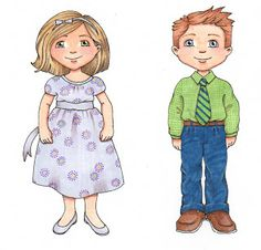 tons of darling clipart! fhe, little people, susan fitch, clipart, puppet, clip art, fitch design, lds primary, church idea