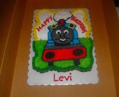 Thomas the Train Cupcake Birthday Cake