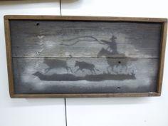 Roping Cowboy Cowboy art Cowboy sign Western by LynxCreekDesigns, $45.00