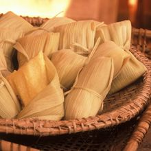 Tamales are traditionally prepared for special occasions or fiestas, but creating them becomes an event in itself. Families come together to form an assembly line: they get the husks ready, spread them with masa, fill, fold and stack them in the steamer. tamal