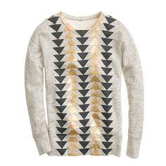 vintage metallic sweatshirt.