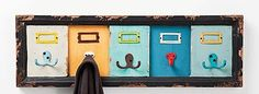 Adorable #Upcycled Coat Rack. #reuse