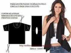 IDEIAS DE RECICLAGEM - 5 ~ Moda e Dicas de Costura