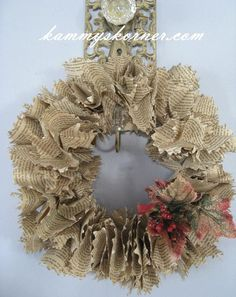 Christmas Book Page Wreath by KammysKornerShop on Etsy, $22.00