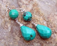 faceted natural turquoise...  mia bella