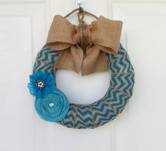 Hey, I found this really awesome Etsy listing at http://www.etsy.com/listing/150477876/chevron-burlap-wreath-everyday-wreath