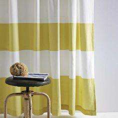 Stripe Shower Curtain - Citron | west elm  $31.00