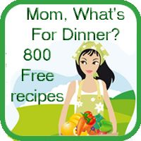 Over 800 Recipes available to you 24/7  at www.momwhatsfordinnerblog.com