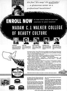 Madam C.J. Walker. First female African American millionaire