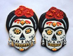 Frida Day of the Dead cookies by One Tough Cookie in NYC