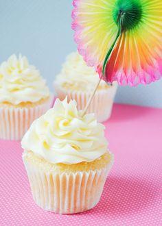 Cupcakes de coco y piña