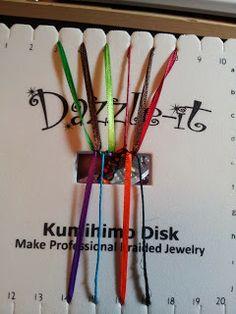 Flat Kumihimo tutorial (10 warp) - The world of YukonReddy Jewelry and Beads