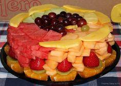 idea, healthi, fruit cakes, creativ food, yummi, healthy dessert recipes, healthy desserts, food art, fruit trays