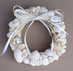 Perfect for the beach house:  Seashell wreath  best of nature by JustShellin on Etsy, $69.99