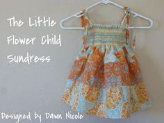 Little Flower Child Sundress by DesignedbyDawnNicole, via Flickr child sundress, dress tutorials, quarter dress, sweet sundress, the dress, flower children, little flowers, kid