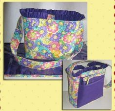DIAPER BAG Sewing Pattern Baby Changing Kit Pad by