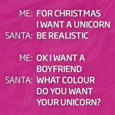I want a pink unicorn