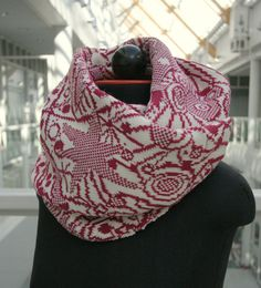 Fair Isle knit infinity scarf