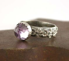 Pink Amethyst and Sterling Silver Ring  Size 7 by SimplyAdorning, $48.00