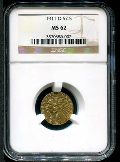 1911-D 2 /12 Indian NGC MS62 - $11,825 - Nice Uncirculated key date at www.brokencc.com