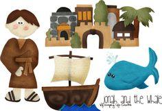 FREE Printable Jonah felt story set by Keeping Life Creative