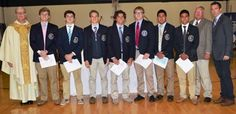 Submitted / Seven seniors at St. Augustine Preparatory School have been named to the National Honor Society. From left are Prep President Donald Reilly; George Steffa, of Sea Isle City; John W. O'Brien, of Ocean City; Robert Fralinger, of Bridgeton; Kyle DeMatte, of Sewell; Sean Carew, of Northfield; Steve Alvarez and Daniel Alvarez, both of Mays Landing; dean of academics Joseph Vandenberg, and dean of student life Kevin Burke.