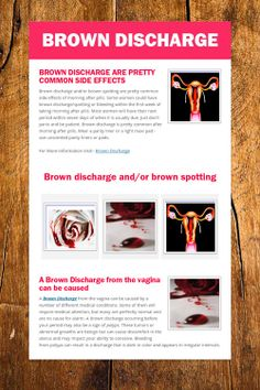 Brownish discharge
