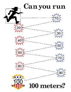 100th Day of School poster in fun 100 meter run design