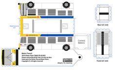 MetroTransit New Flyer paper model bus by R. Flores. DIY paper craft