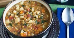 Forks Over Knives | Lentil Vegetable Soup fork over knives, veget soup, lentil soup, food, eat, lentil vegetable soup, vegan soups, vegetarian soups, veggie soup