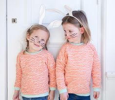 Free Easter bunny ears printable. Just affix to a headband.