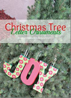 #Christmas Tree Letter #Ornaments #ModPodge #MichaelsStores