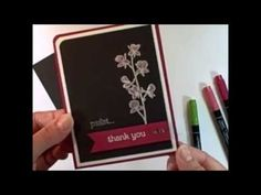 ▶ Stampin' Up! Chalk Marker Coloring Technique - YouTube