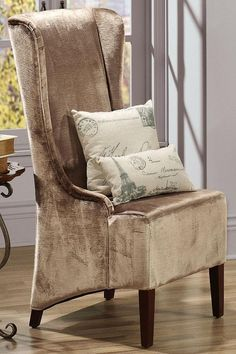 Phillips high-back chair. HomeDecorators.com