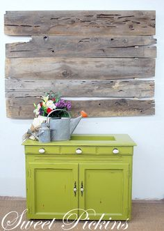 adore this cabinet makeover from sweet pickins! that color is fantastic!