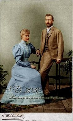 The last Imperial couple of Russia - Nicholas II. and Alexandra Fyodorovna, newly engaged.