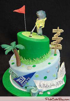 Sports Themed 70th Birthday Cake