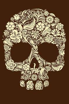 Botanic skull