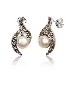 Marcasite Sterling Silver Elegant Earrings     Price: £45    Available Online at: www.accessoriesofenvy.co.uk