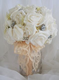 Tutorial on how to make your own wedding bridal bouquet.