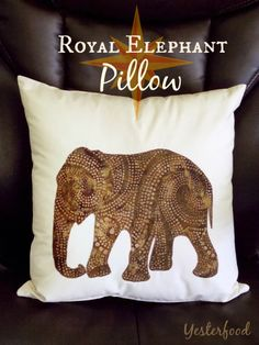 Yesterfood : Royal Elephant Pillow Cover