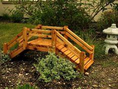 Landscape bridge on pinterest dry creek bed japanese for Landscape timber projects free plans