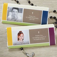 Cherish your child's big day with the Blessed Child Personalized Photo Candy Bar Wrappers. Find the best personalized First Communion gifts at PersonalizationMall.com