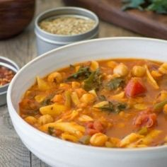 kale chickpea minestrone