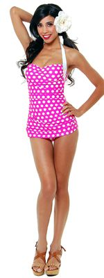 pin up polka dot bathing suit