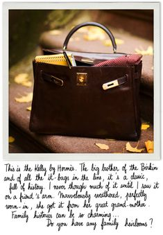 The Hermes Kelly bag