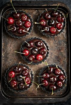 No-bake Oreo Chocolate Cherry Tarts